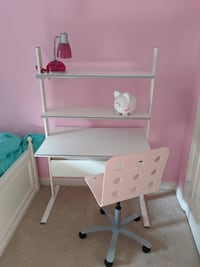 Child's desk, chair, lamp Olney