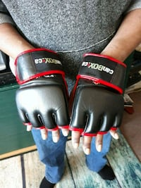 pair of black-and-red boxing gloves Toronto, M4C 1H6