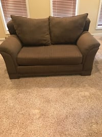 brown fabric 2-seat sofa Kansas City, 64119