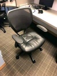 DESK MESH BACK CHAIR WITH LEATHER SEAT Bel Air, 21014