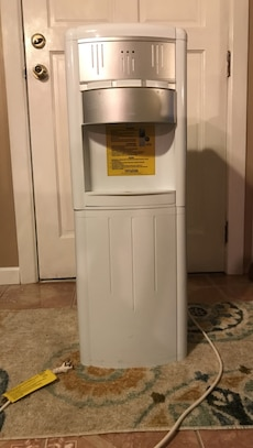 White and gray water dispenser