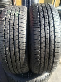 Set 275/65R18 GOODYEAR WRANGLER semi new 95% life $300 includes professional installation and tax Whittier, 90605