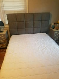 Gray Upholstered Bed and Memory Foam Mattress Silver Spring, 20906