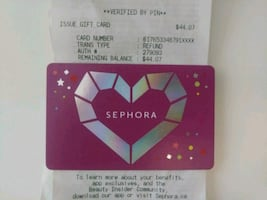 $44 Sephora Store Credit for $30