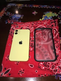 yellow iphone