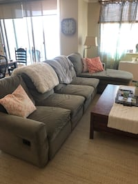 Olive green Havertys Sectional Sofa  Rockville, 20852