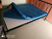 Metal bed with heavy plywood board and ortho mattr Bisrakh Jalalpur, 203207