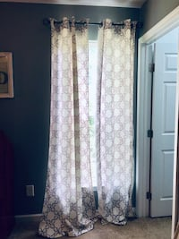 "2 sets of 96"" curtains (4 panels)"