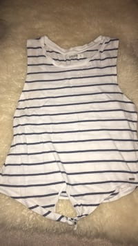 white and black stripe tank top Edmonton, T6R 0R9