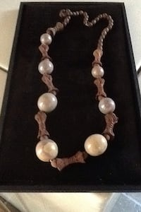 Glass and wood bead necklace Gulfport, 33707