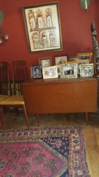 1960s Heywood Wakefield dining table an d 2 chairs