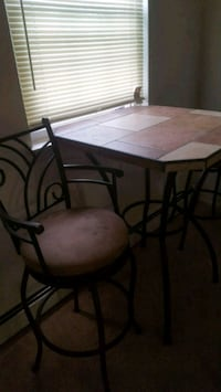 rectangular brown wooden table with four chairs dining set Eagleville, 19403