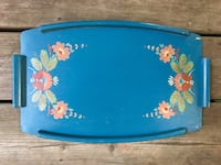 Vintage Hand Painted Wood Tray Toronto, M4L 2Y3