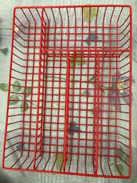Red wire silverware tray