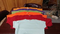 Tee shirts multiple colors
