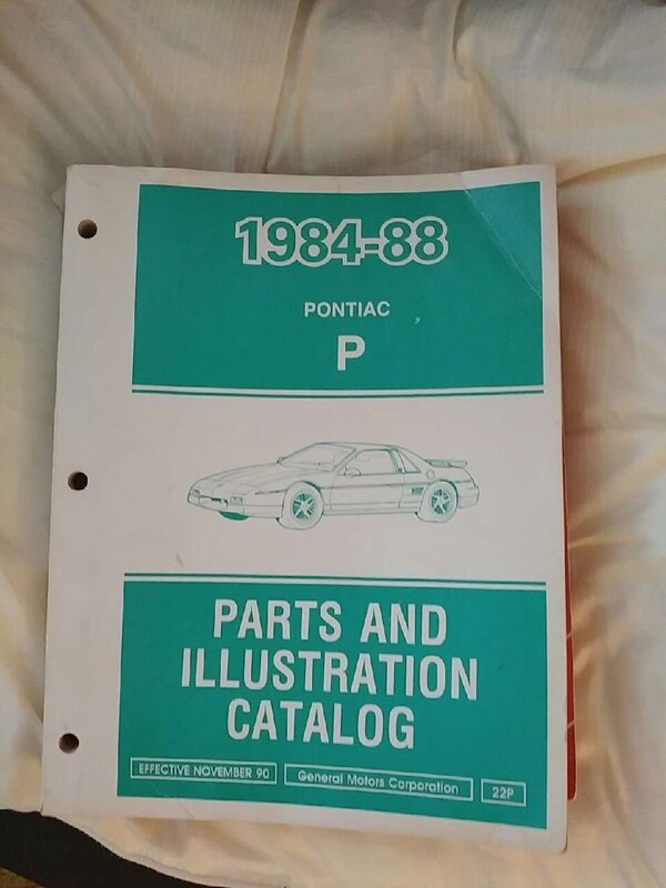 Parts and illustration catalog manual, Effective 1990. If you have a P-car you need this to find restoration parts.