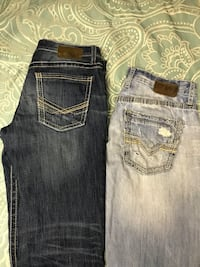 two blue and black denim bottoms Columbiana, 35051