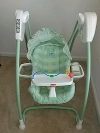 baby's white and green swing chair Ashburn, 20147