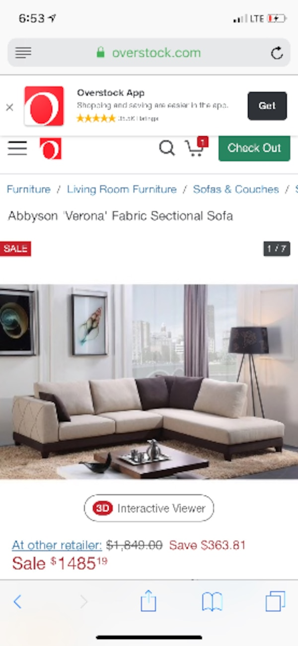 Terrific Used Gorgeous Abbyson Living Verona Sectional Sofa For Sale Caraccident5 Cool Chair Designs And Ideas Caraccident5Info