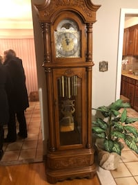 brown wooden grandfather's clock Vaughan, L6A 1C2