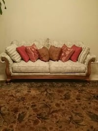 brown and white fabric sofa Decatur, 30034