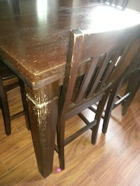 All Wood Pub Style Table and 4 Chairs TORONTO