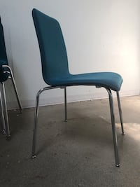 9  teal and metal chairs Los Angeles, 90038