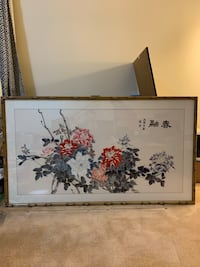 Large custom framed Chinese art Gaithersburg, 20878