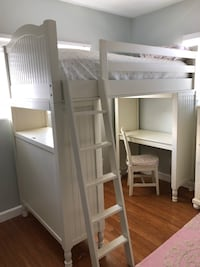 Pottery Barn Kids Bunk Bed And Desk-White-Catalina Bunk System Torrance, 90503