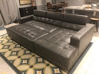 Faux Leather sofa with Chaise and ottoman Mount Laurel, 08054