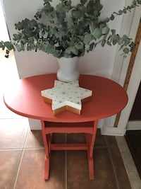 Coral Coloured Table