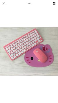 Wireless Hello Kitty keyboard and mouse