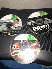 2 xbox 360 and 3games Riverside, 92505