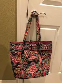 black and red floral tote bag Prairie Grove, 72753