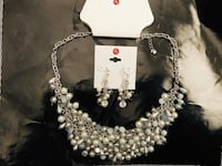 Necklace and Earring Set  Silver Spring