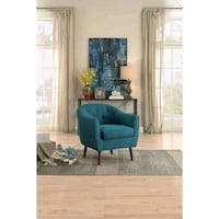 [MONTHLY SPECIAL] Lucille Blue Accent Chair   1192 Houston, 77036