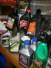 Synthetic motor 2-stroke gear oil, $20 all, a few are full most hal