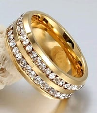 New 18KT Gold over S.S. White Sapphire Ring New Port Richey, 34652