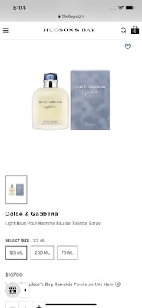 D&G light blue 125 ML  Mississauga, L4X 1T1