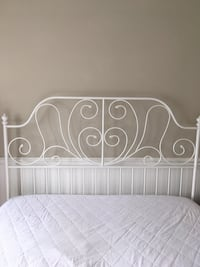 White metal bed frame Campbell, 95008