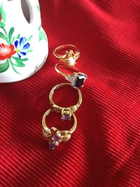 Assorted  Vermeil Gold rings  Size # 5 / Gold over Sterling silver jewelry /   beautiful Selection Alexandria, 22311