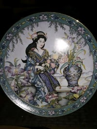 VINTAGE RARE LADY OF THE LILIES FRANKLIN MINT LIMI