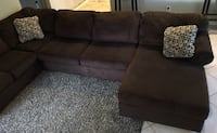 Brown sectional. From smoke free pet free home Pasco County, 34639