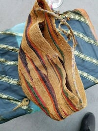 Hand weave basket purse