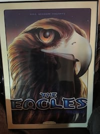 Rare 1994 Eagles Shoreline amphitheater picture - framed. Reduced Price is firm