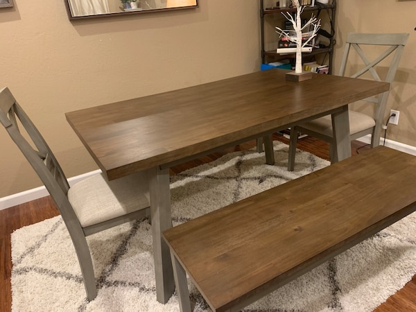 Pleasant Dark Wood Table Chairs Benches Pdpeps Interior Chair Design Pdpepsorg