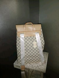 White Louis Vuitton backpack Mississauga, L5G