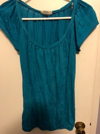 Blue Cowl Neck Blouse 24 mi