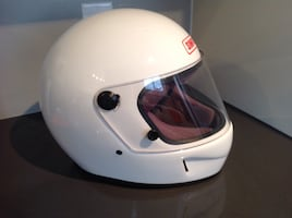 Simpson white full face helmet