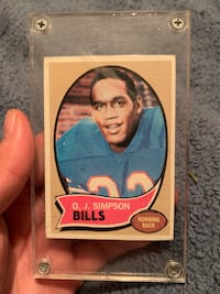 OJ Simpson rookie card   San Juan, 78589
